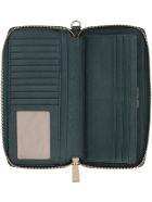 Michael Kors Money Pieces Grain Leather Wallet - green
