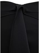 Givenchy Black Asymmetrical  Viscose Blend Skirt - Black