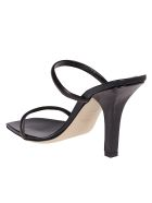 Paris Texas Black Leather Linda Mules - Black