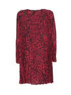 RED Valentino pleated dress - Rosso