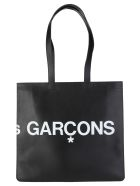 Comme des Garçons Wallet Comme Des Garcons Wallet Huge-logo Tote Bag - BLACK