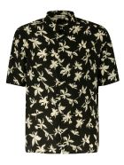 Saint Laurent Tropical Print Shirt - Black/White