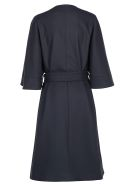 Calvin Klein Wrap Coat - Calvin navy