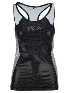 Fila Tech Tank Top - BLACK + SILVER