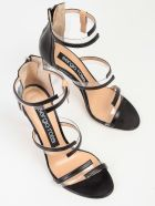 Sergio Rossi Zipped Sandals - Black