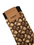 Burberry Logo Motif Socks - Brown