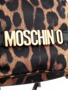 Moschino Logo Plaque Bucket Bag - Black