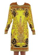Versace Barocco Print Dress - Multicolor