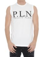Philipp Plein Tank Top With Logo - White