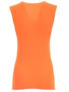 Junya Watanabe Comme Des Garçons Sleeveless Round Neck Tshirt - Neon Orange
