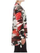 Alexander McQueen Torn Rose Patterned Silk Shirt - Multicolor