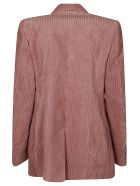 Isabel Marant Ribbed Double-breasted Blazer - Rosewood Pink