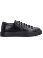 Prada Leather Low-top Sneakers - black