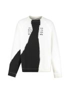 Maison Margiela Printed Crew-neck Sweatshirt - White