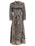 Pierre-Louis Mascia Dress Long W/buttons - Leopard