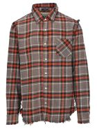 R13 T-shirts CHECKED SHIRT