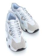 Emporio Armani Sneakers Cow Suede Rubber Polyurethane - Bianco