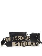 Stella McCartney Beige And Black Faux Leather Belt Bag - Black