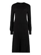 Alberta Ferretti Openwork-knit Dress - black