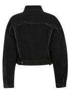 Acne Studios Cropped Denim Jacket - Black