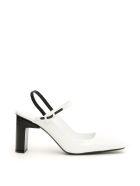 1017 ALYX 9SM Bicolor Lara Slingbacks - BLACK WHITE (White)