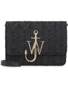 J.W. Anderson Anchor Logo Leather Shoulder Bag - black