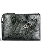 Versus Versace  Leather Clutch Handbag Bag Purse - Nero