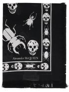 Alexander McQueen Skull Foulard - Black ivory