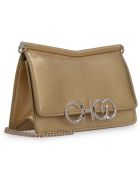 Jimmy Choo Sidney Metallic Leather Mini-bag - Gold