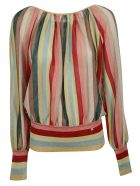 Elisabetta Franchi Celyn B. Elisabetta Franchi For Celyn B. Striped Blouse - MULTICOLOR