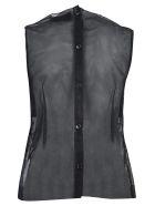 Simone Rocha Sequined Tulle Blouse - Black