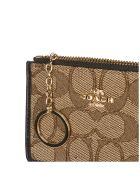 Coach  Genuine Leather Credit Card Case Holder Wallet - Marrone