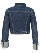 Helmut Lang Cropped Denim Jacket - BLUE WASHED