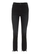 3x1 Straight Authentic Crop Jeans - black