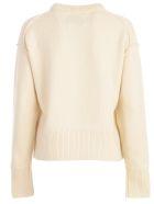 Calvin Klein Jeans Sweater L/s W/logo - Egret Orangeade