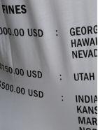 "Helmut Lang ""maximum Penalty"" Print T-shirt - WHITE"