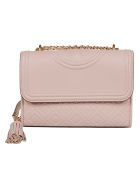 Tory Burch Quilted Shoulder Bag - Shell Pink