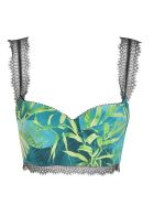 Versace Leaf Printed Top - green