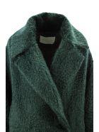 Fabiana Filippi Green Oversized Single Breasted Coat. - Verde