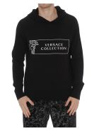 Versace Collection Logo Hoodie - Black
