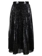 Valentino Black And Silver Sequin Skirt - BLACK SILVER