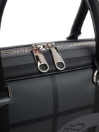 Burberry Checked Briefcase - Acharcoal Black