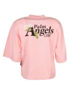 Palm Angels Daisy Logo Cropped T-shirt - Rosa