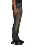 R13 Stonewashed Slim Fit Jeans - Nero sabbia