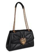 Dolce & Gabbana Devotion Quilted Leather Shoulder Bag - black