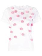Comme Des Garçons Girl Balls Embellished T-shirt - White Pink