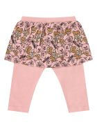 Moschino Whiite And Pink Suit With Teddy Bears For Baby Girl - Rosa