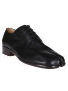 Maison Margiela Black Leather Tabi Derby Shoes - Black
