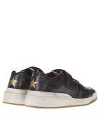 Saint Laurent Sl24 Used Effect Black Leather Sneakers - Black