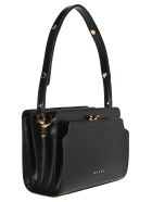 Marni Trunk Reverse Shoulder Bag - BLACK